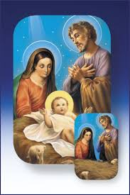 2x3 two dimensional holy family holy card