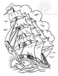 pirate ship with compass tattoo design photos pictures and