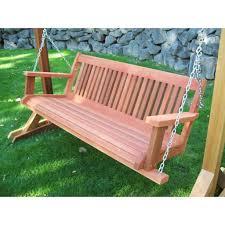 5 Ft Patio Swing With Cedar Pergola Create by Cedar Porch Swings The Porch Swing Store