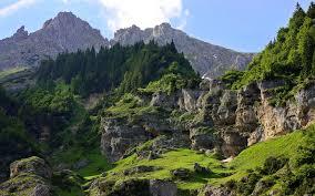 nature landscape beautiful sky mountain tree wallpaper