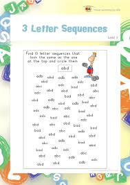 in the u201c3 letter sequences u201d worksheets the student must find 10