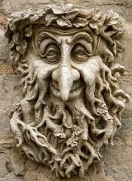 celtic green greenman decorative wall plaque frostprf