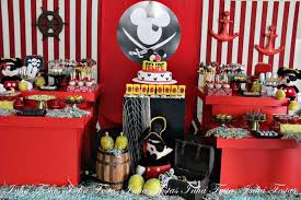 Mickey Mouse Party Theme Decorations - kara u0027s party ideas mickey mouse pirate themed birthday party
