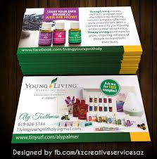 Herbalife Invitation Cards Young Living Business Cards 1 Kz Creative Services Online