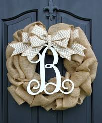 monogram wreath burlap wreath etsy wreath summer wreaths for door door