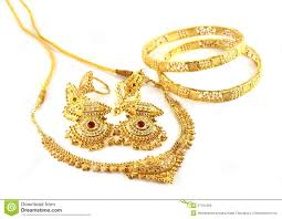 gold earrings for wedding wedding gold jewelry for indian stock photo image 27151950