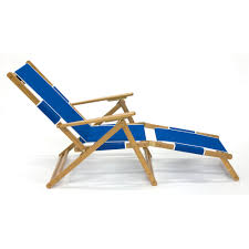 Rio Sand Chairs Oak Wood Folding Convertible Beach Chair Lounger Pacific Blue
