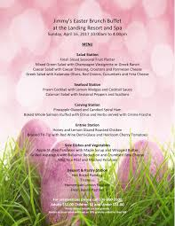 Easter Brunch Buffet Menu by The Landing Resort And Spa South Lake Tahoe Ca