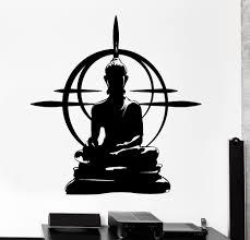 Yoga Home Decor Wall Vinyl Wall Sticker Decal Home Decoration Decor Buddha Chakra