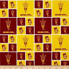 Manzanita Hall Asu Floor Plan Collegiate Cotton Broadcloth Arizona State University Yellow