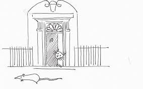 samantha cameron captures the downing street rat in a sketch