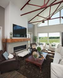 fireplace mantel ideas family room traditional with beams brick