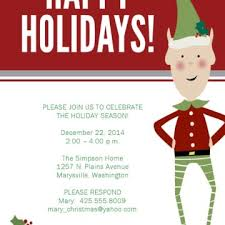 attractive christmas children party invitation ecard sample with