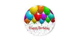 birthday balloons happy birthday balloons classic sticker zazzle