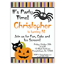 halloween birthday party invitations free printable u2013 festival
