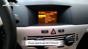 opel astra 2004 opel astra h secret menu youtube
