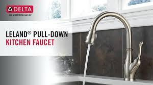 leland kitchen faucet delta leland kitchen faucet single handle pull kitchen faucet