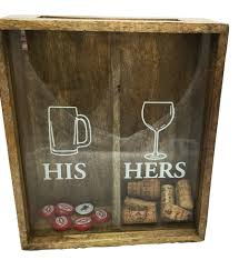 his hers wine glasses his and hers cork display box