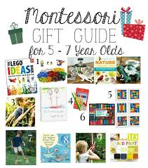 montessori gift guide for 5 7 year s