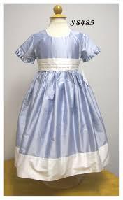 light blue silk dress girls light blue silk dress little threads inc children s clothing