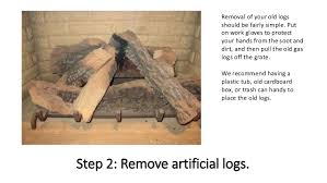 Artificial Logs For Fireplace by How To Install Gas Fireplace Logs