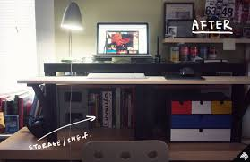 ikea office hack my diy standing desk u2014the 22 31 ikea hack imaginary zebra iz