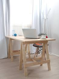 Home Office Wood Desk Mocka Trestle Desk Home Office Furniture Desk Office Table Office