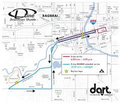 Riverwalk Map Ride For A Reason Dart Extends D Line Service For Ragbrai