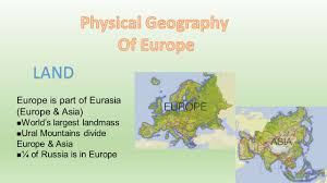 Ural Mountains On World Map by Physical Geography Of Europe Ppt Download