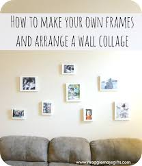 make your own frames and arrange a wall collage maggie may s make own frames and arrange collage