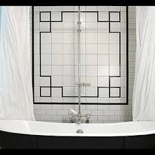 Black White And Gray Bathroom Ideas - white subway tile bathroom design ideas