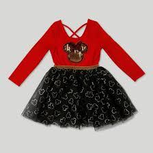 toddler girls u0027 minnie mouse ballerina dress red target
