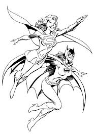 Deadly Duo Batgirl And Supergirl Coloring Pages Best Place To Color Batgirl And Supergirl Coloring Pages Printable