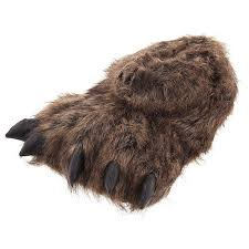 mens slippers amazon com grizzly bear paw slippers for women and men