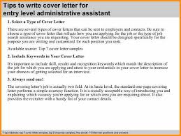 administrative assistant cover letter entry level cover letter