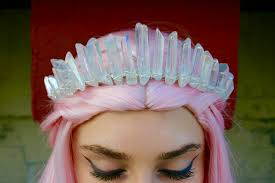 halloween crowns and tiaras the nomi mermaid crown polished angel aura clear crystal