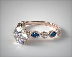 engagement ring sapphire 17083r14 vintage and marquise sapphire engagement