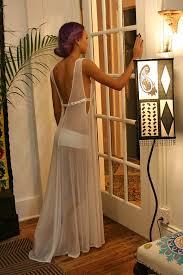 Wedding Sleepwear Bride Gossamer Spun Mesh Black Lace Nightgown Black от Sarafinadreams