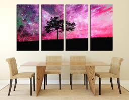 4 piece canvas wall art tree canvas photography purple canvas