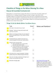 Essential Household Items by Checklist Of Things To Do When Moving To A New House