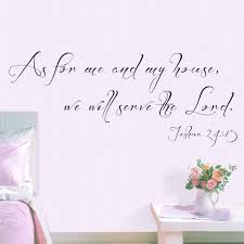 online get cheap scripture quotes aliexpress com alibaba group as for me and my house wall decal scripture quote decal vinyl lettering wall decal christian wall art 48 26cm x 116 84cm