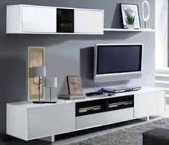 White Gloss Living Room Furniture Sets Tv Unit Living Room Furniture Set Modular Media Wall White