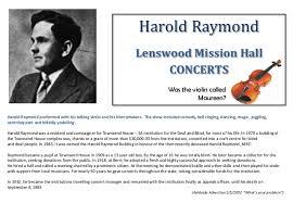 Blind Violinist Famous Mission Hall Lenswood U0026 Forest Range History Display