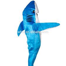 Shark Halloween Costume Women Blue Shark Attack Costume Animal Party Cosplay Suit Mascot