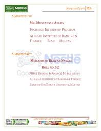 si e social nestl internship report on nestle