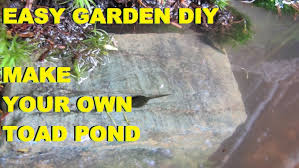 diy easy to build toad pond how to build a toad pond in your