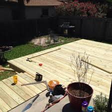 How To Build A Wood Patio by How To Build A Deck Step By Step Your Backyard Oasis