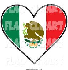 Green Red And White Flag Mexican Flag Eagle Clip Art 30