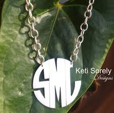 large monogram necklace personalized handmade modern letters monogram necklace with large