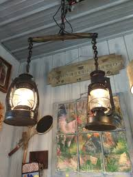 Primitive Light Fixtures Home Design Hanging Light Made From Lanterns And A